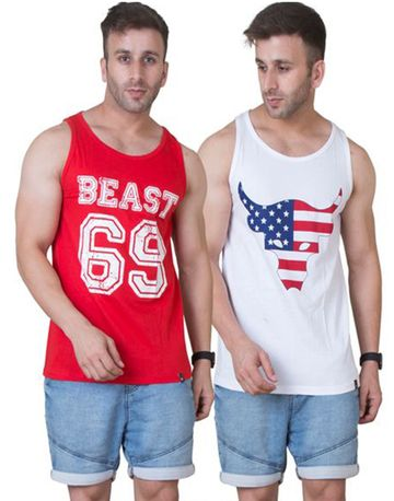 VEIRDO | Veirdo Sleeveless T-shirt- Set of 2