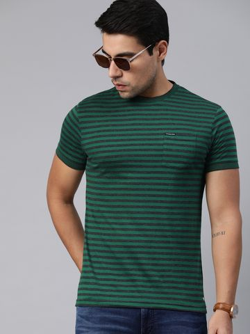 The Bear House   Round Neck Striped T-Shirt