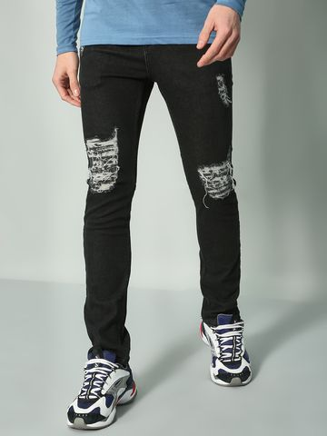 Blue Saint | Blue Saint Men's Black Slim Fit Jeans