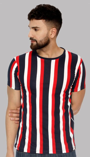 VEIRDO | Veirdo Cotton Striped T-shirt for men