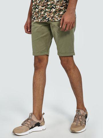 Blue Saint   Blue Saint Men's Green Regular Fit Shorts