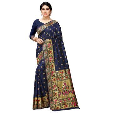 POONAM TEXTILE   Latest Banarasi Jacquard Silk Blended Saree