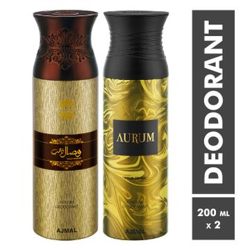 Ajmal | Wisal Dhahab and Aurum Deodorant Spray - Pack of 2