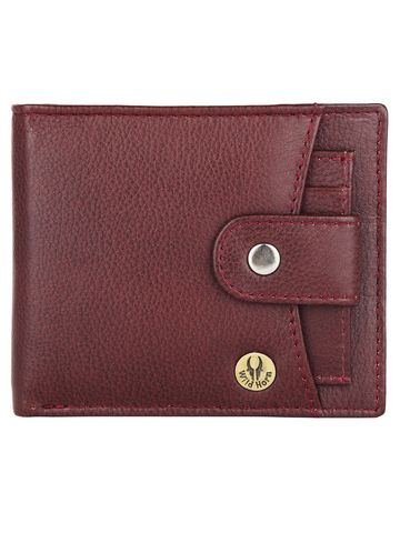 WildHorn   WildHorn RFID Protected Genuine High Quality Leather Maroon Wallet for Men