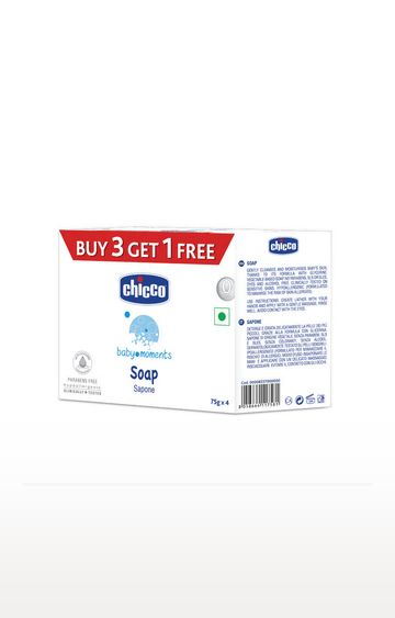 Mothercare   Chicco Soap Baby Moments 75Gr Buy 3 Get 1 Free