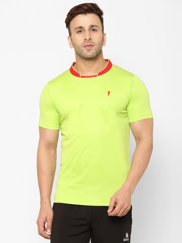 Eppe | EPPE Men's Round Neck Parrot Green Super Soft Micro Polyester Half Sleeves Sports Casual T-Shirt