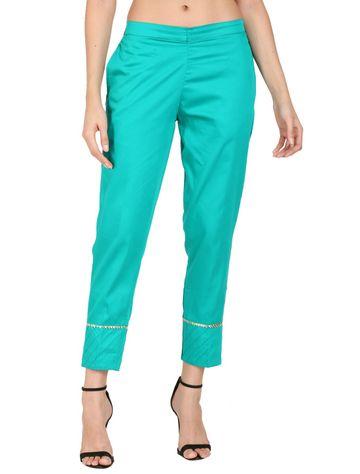 DEVS AND DIVAS | DEVS AND DIVAS Turquoise Green Ethnic Pant Trouser For Women