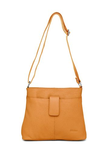 WildHorn   WildHorn Upper Grain Genuine Leather Ladies Cross-body Hand Bag with Adjustable Strap - Yellow