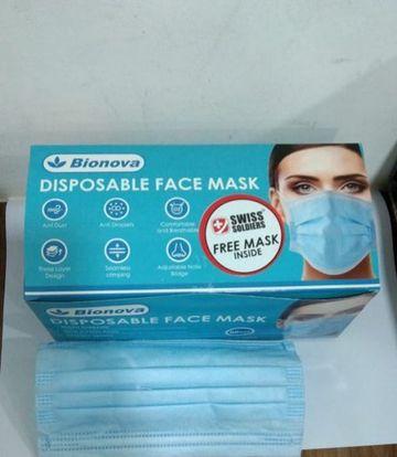 Bionova   Bionova Disposable Surgical Masks 3 Layers (Pack of 50 x 2 100Pcs)