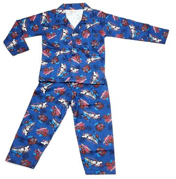 AAAKAR | Stylish SpiderMan Printed Full Sleeve Top and Pyjama Set