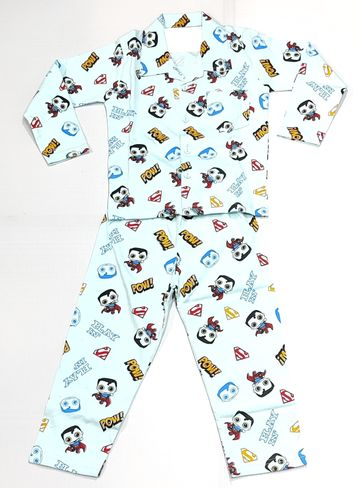AAAKAR   Stylish Superman Printed Top and Pyjama Set