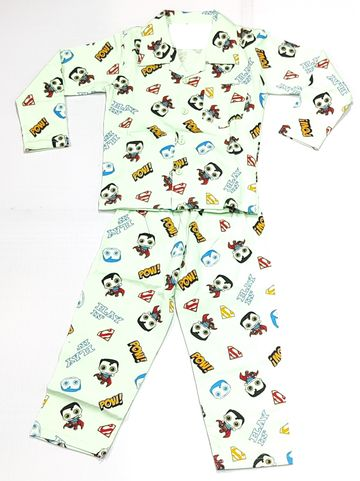 AAAKAR | Stylish Superman Printed Top and Pyjama Set