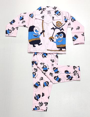 AAAKAR | Stylish Minions Printed Top and Pyjama Set