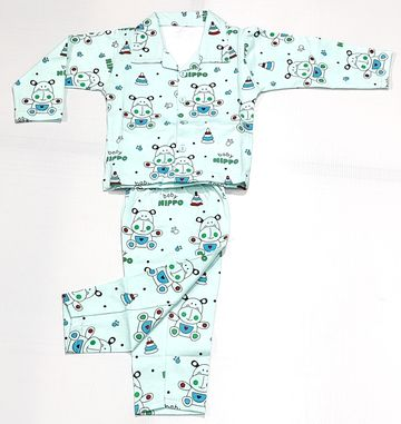 AAAKAR | Stylish Robot Printed Full Sleeve Top and Pyjama Set