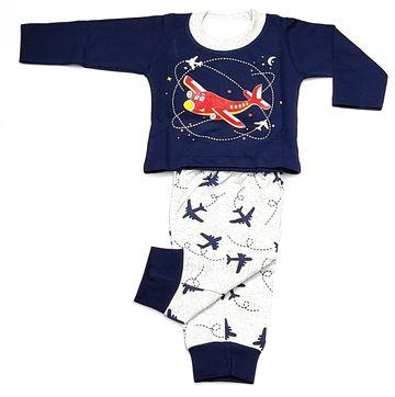 AAAKAR | Stylish Aeroplane Printed Full Sleeve T-Shirt And Pyjama Set
