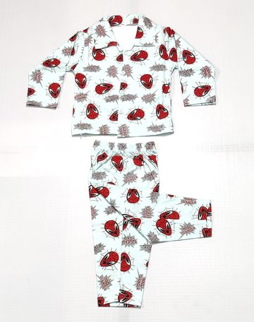 AAAKAR | Boy's Full Sleeve Pyjama Set Spiderman Printed