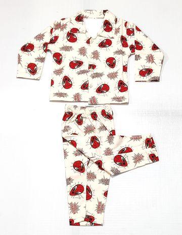 AAAKAR | Boy's Full Sleeve Pyjama Set Spiderman Printed