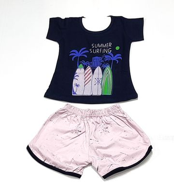 AAAKAR | Girl's Graphic Printed Top, Capri and Shorts Combo Pack