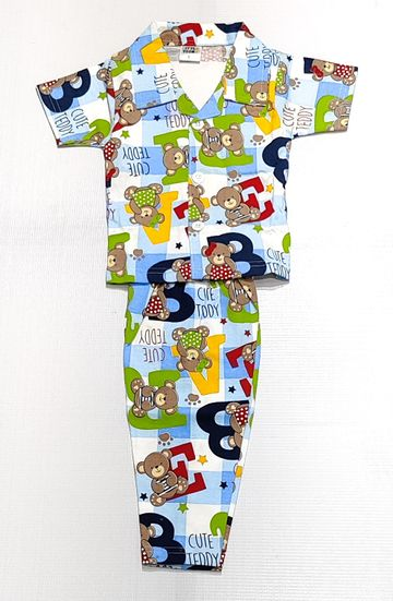 AAAKAR | Stylish Teddy Bear Printed Full Sleeve Top and Pyjama Set
