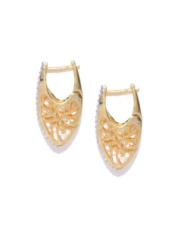AADY AUSTIN | Aady Austin Designer Golden Hoops Earrings