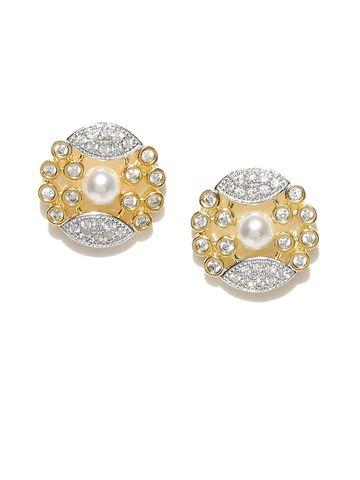 AADY AUSTIN | Aady Austin Kundan Look Gold studs Earring