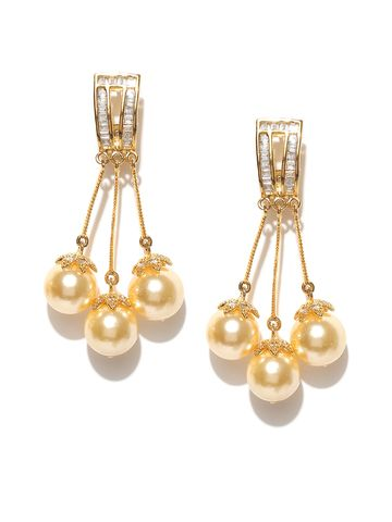 AADY AUSTIN | Aady Austin Beautiful Multi Gold danglers-drops Earring