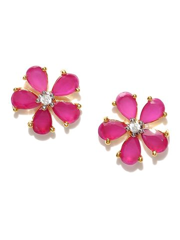 AADY AUSTIN   Aady Austin Floral Gold studs Earring