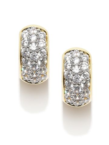 AADY AUSTIN | Aady Austin Stone Studded Gold hoops Earring
