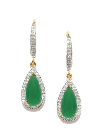 AADY AUSTIN | Aady Austin  designer Dangle Green earring