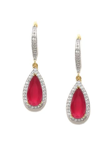 AADY AUSTIN | Aady Austin  designer Dangle Red earring