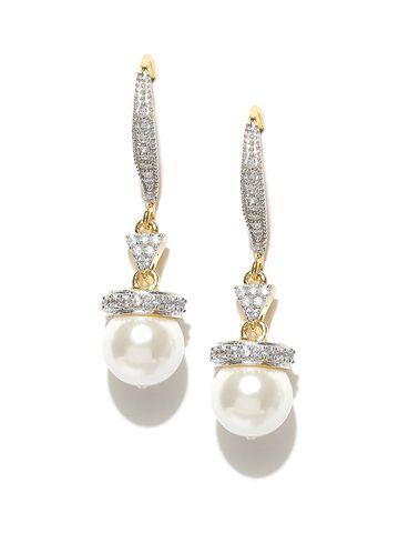 AADY AUSTIN | Aady Austin  White Pearl Dangler Drop Earring