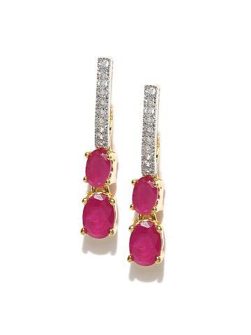 AADY AUSTIN   Aady Austin  double pink stone earring