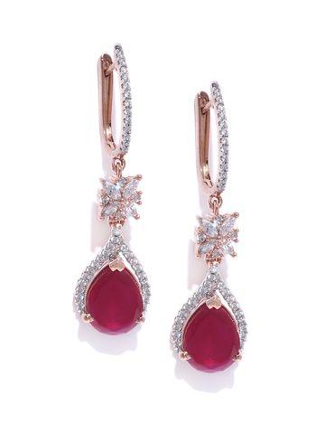 AADY AUSTIN   Aady Austin Pink Stone Designer Dangler