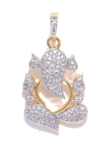 AADY AUSTIN | Aady Austin Golden Ganeshya neck pendent