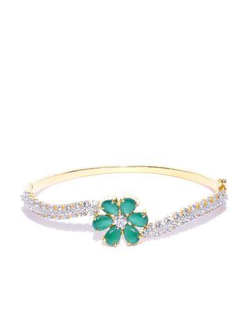 AADY AUSTIN | Aady Austin Gold Green Floral Bracelet