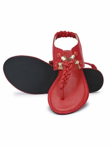 AADY AUSTIN | Aady Austin Flat Sandal - Red