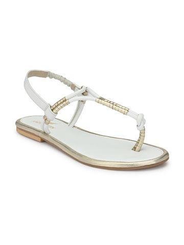AADY AUSTIN | Aady Austin Flat Sandals - White