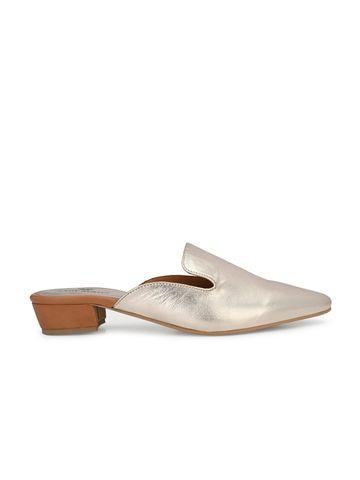 AADY AUSTIN   Aady Austin Women's Rose gold Mule Block Heel Sandals