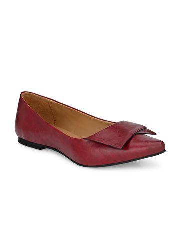 AADY AUSTIN   Aady Austin Women's Trendy Wine Pointed Toe Flats