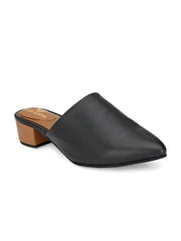 AADY AUSTIN | Aady Austin Women's Trendy Black Pointed Toe Block Heel