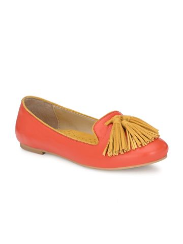 AADY AUSTIN   Aady Austin Women's Trendy Orange Round Toe Flats