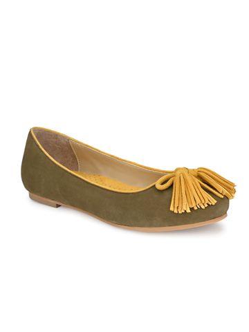 AADY AUSTIN | Aady Austin Women's Trendy Olive Round Toe Flats