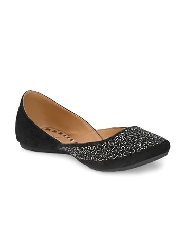 AADY AUSTIN   Aady Austin Women's Trendy Black Round Toe Flats