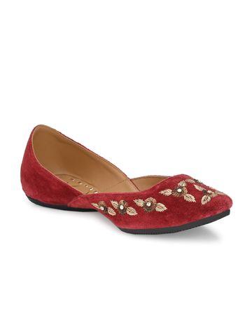 AADY AUSTIN | Aady Austin Women's Trendy Red Round Toe Flats