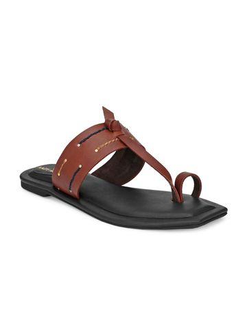 AADY AUSTIN   Aady Austin Women's Trendy Brown Square Toe Flats