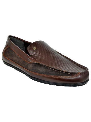 Allen Cooper | Allen Cooper Brown Loafers For Men