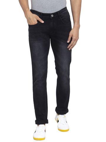 Allen Cooper | Allen Cooper Black Denim Slim Fit Jeans for Men