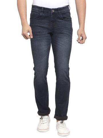 Allen Cooper   Allen Cooper navy Blue Denim Slim Fit Jeans for Men
