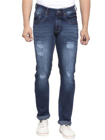 Allen Cooper   Allen Cooper Blue Denim Slim Fit Jeans for Men