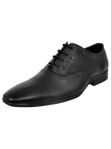 Allen Cooper   Allen Cooper Black Formal Shoes For Men